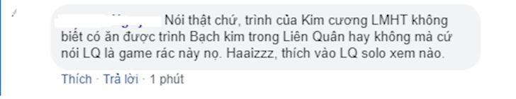 Game thu cho rang trinh Kim cuong LMHT chua chac an duoc rank Bach Kim trong Lien Quan Mobile