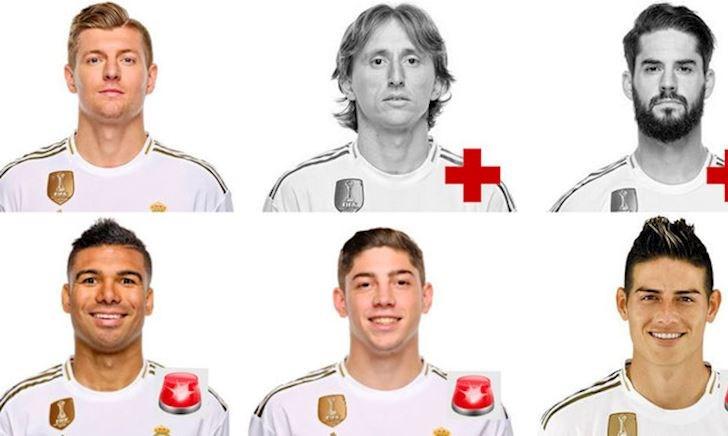 Real Madrid đại khủng hoảng: Chỉ còn một tiền vệ thì đá sao?