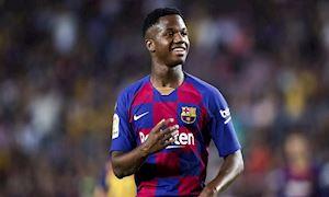 Barca mong thần đồng Ansu Fati phá kỷ lục Champions League