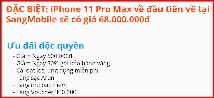 iPhone 11 Pro Max gia bao nhieu tien khi ve Viet Nam 1