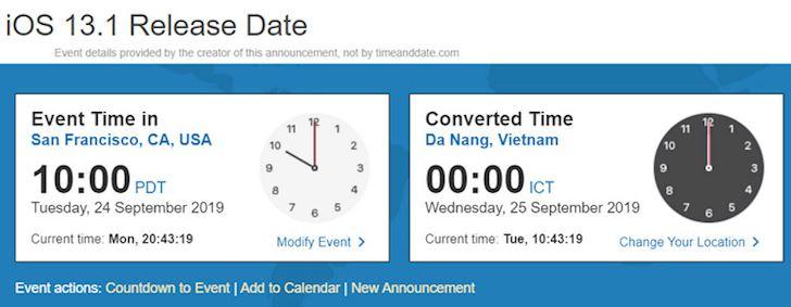 De khong bo lo thoi gian cap nhat iOS 13 1 chinh thuc 1