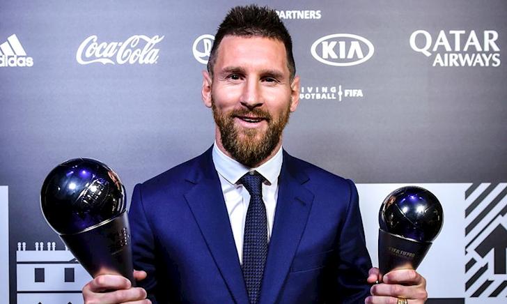Lionel Messi giành danh hiệu Cầu thủ xuất sắc nhất thế giới