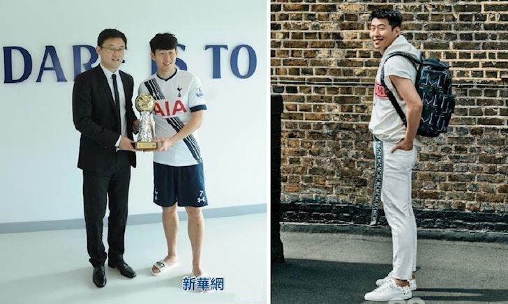 Son Heung-min quần đùi dép lê nhận giải VĐV hay nhất châu Á