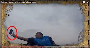 [Video] Hy hữu thanh niên tóm gọn chiếc iPhone trong tay khi đang chơi tàu lượn siêu tốc