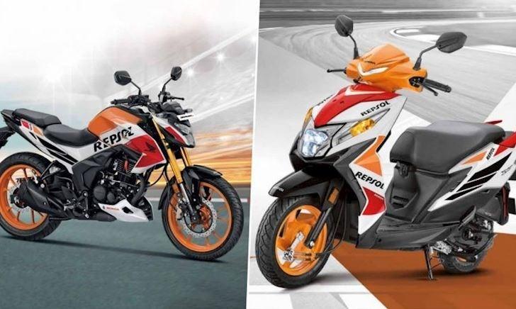 Honda Hornet 2.0 và Dio màu Repsol mới với cách phối giống xe đua của Marc Marquez