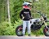 Honda CT70 gác máy MSX tăng sức mạnh cùng lốp gai địa hình