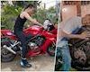 Vừa đậu bằng A2, Wowy đã được tặng ngay chiếc mô tô Honda CBR650R