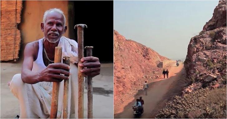Buồn vì mất vợ, ông lão cầm búa đẽo núi miệt mài: 22 năm núi phải tách ra, cả làng đội ơn