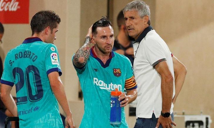 Cầu thủ Barca lơ Setien, nghe HLV Messi chỉ đạo