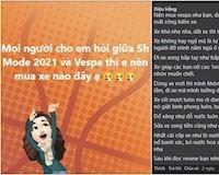 Sh mode 2021 hay Vespa và lời nhận xét từ cộng đồng mạng