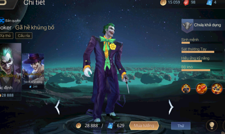Joker bị sửa lại chiêu thức thành ra yếu hơn rất nhiều so với trước?
