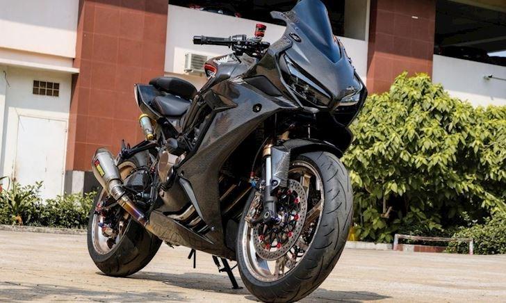 Honda CBR650R đời 2021 độ dàn áo full carbon và dàn đồ chơi siêu đắt giá tại TP.HCM