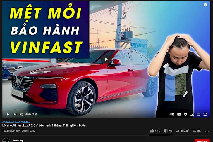 sau gogo tv youtube xuat hien hang loat chu xe gop y xe vinfast 3