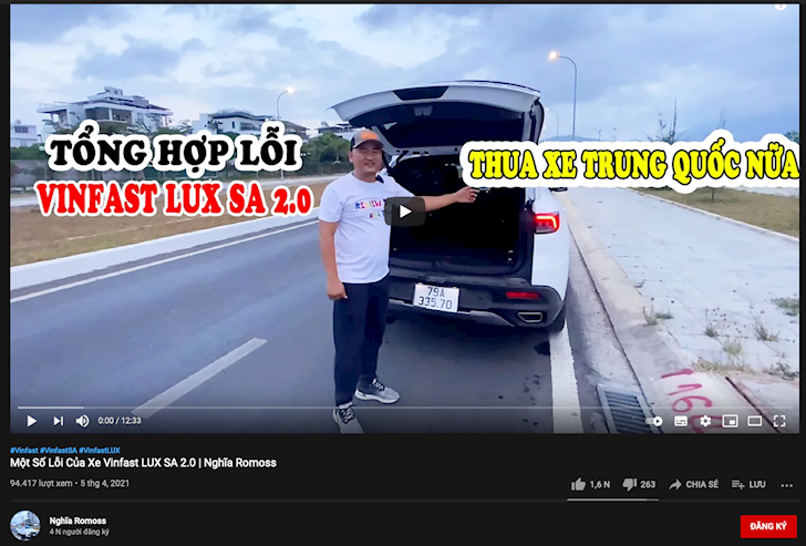 sau gogo tv youtube xuat hien hang loat chu xe gop y xe vinfast 4