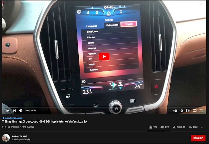 sau gogo tv youtube xuat hien hang loat chu xe gop y xe vinfast 2