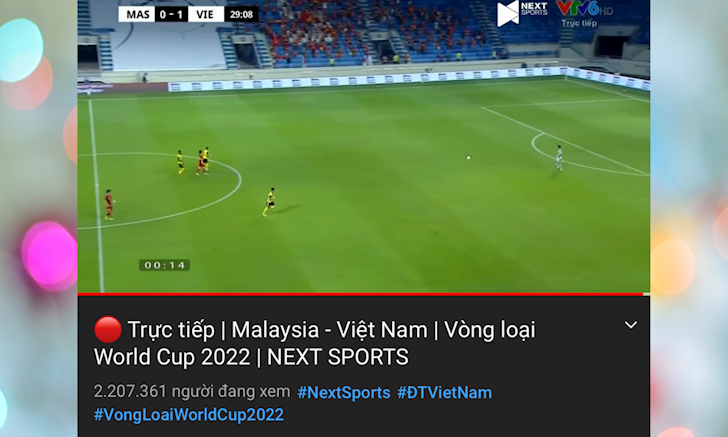 Tran dau Viet Nam Malaysia tiep tuc lap ky luc moi voi hon 2 2 trieu luot xem