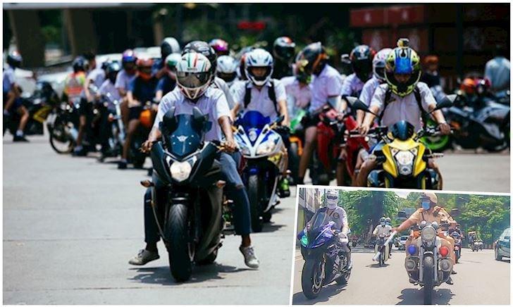 Khác với siêu nhân gao chạy mô tô ở Việt Nam, học sinh Thái Lan đi PKL là chuyện thường