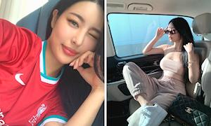 Người đẹp thể thao - người mẫu Hàn Quốc gây sốt khi mặc áo Liverpool