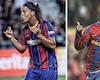 41 tuổi, bụng phệ, nhưng cứ ra sân là Ronaldinho lại hoá ảo thuật gia