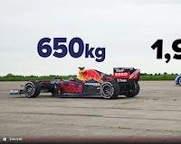 Bất ngờ với kết quả khi cho Bugatti Chiron đọ sức với xe đua F1