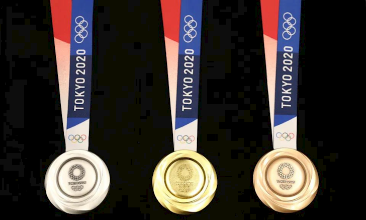 Toan bo huy chuong tai Olympic Tokyo 2020 deu duoc lam bang dien thoai va thiet bi dien tu tai che