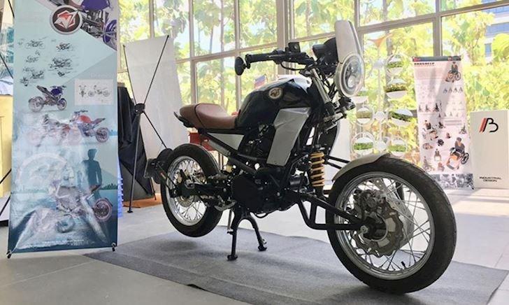 Mẫu mô tô do sinh viên Việt Nam tự thiết kế và đã giành được thủ khoa