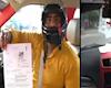 Bị phạt vì không đội nón bảo hiểm khi lái ô tô là có thật