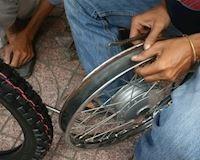 Lốp không ruột vẫn có thể lắp lên được vành nan hoa thường